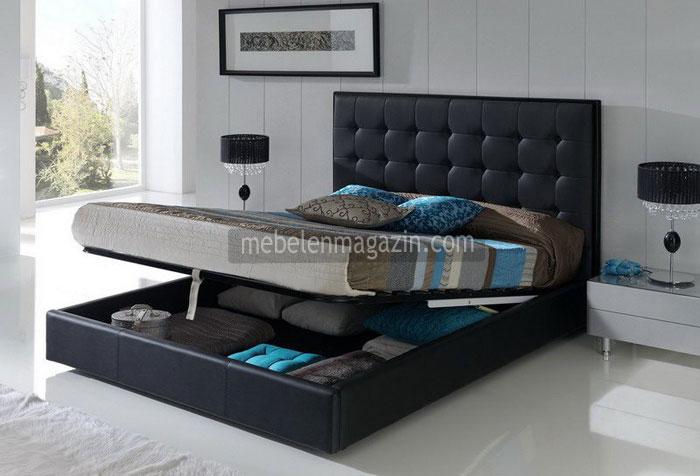 Черна тапицирана спалня  757-2735